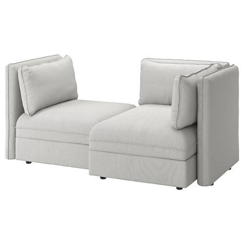 Vallentuna Mod Sofa 2 Seat W Slpr Section And Storage Orrsta Olive Green Ikea Sofa Bed With Storage Vallentuna Love Seat