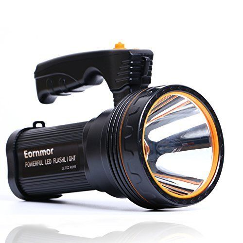 Eornmor Outdoor Handheld Portable Flashlight 6000 Lumens Usb Rechargeable Super Bright Led Spotlight Torch Searchlight Multi Function Long Shots Lamp 9000ma 35w Flashlight Bright Led Flashlight Handheld Spotlight