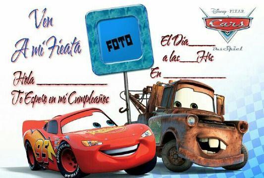 Tarjetas De Cumpleaños De Cars Para Niños De 3 A 10 Años