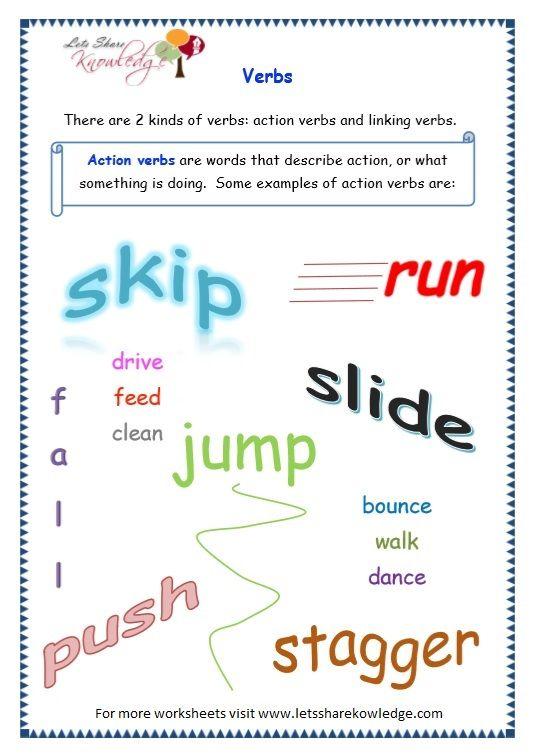 Grade 3 Grammar Topic 13: Verbs Worksheets Verb Worksheets, 3rd Grade  Math Worksheets, Teaching Punctuation