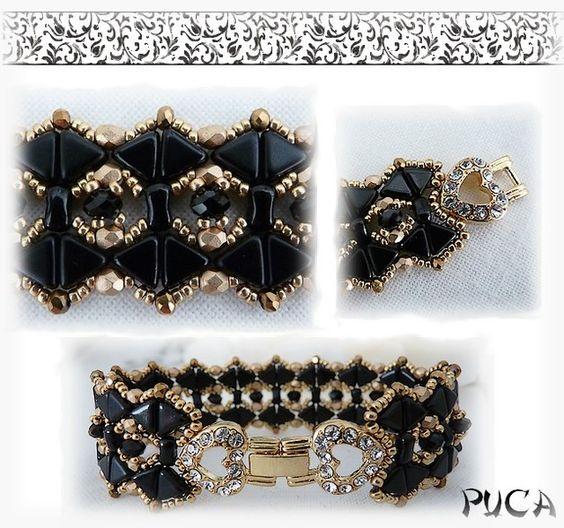 """*P Bastelanleitung - Schéma ...Bracelet """" Océa"""" - ein Designerstück von PUCA bei DaWanda"""