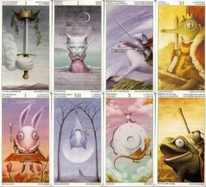 I love the artwork in this tarot deck, so cute! ><    Tarot of the Magical Forest