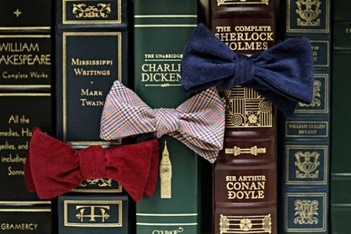 Books wear bow ties now. Bow ties are cool!