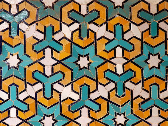 TILEWORK. I miss Spain.    I believe you can buy it for around one million dollars. It's moorish from 11th century Islamic Spain.