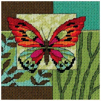 DIMENSIONS - Butterfly Impression Mini Needlepoint KitDimensions brings to you beautifully designed images in a vast variety of themes from baby to weddings; sympathy to inspirational and fun and quir