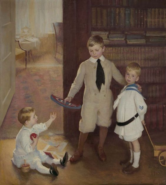 Marie Danforth Page (American, 1869 - 1940): Sam, Lewis and Ward (1912) (via Museum of Fine Arts, Boston)