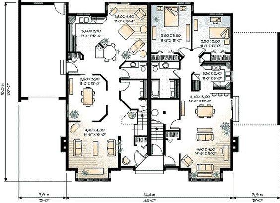 House Plan 23 2153 Multi Unit Plans Pinterest