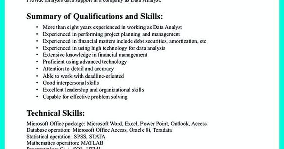 High Quality Data Analyst Resume Sample from Professionals Vina - how to write a dance resume