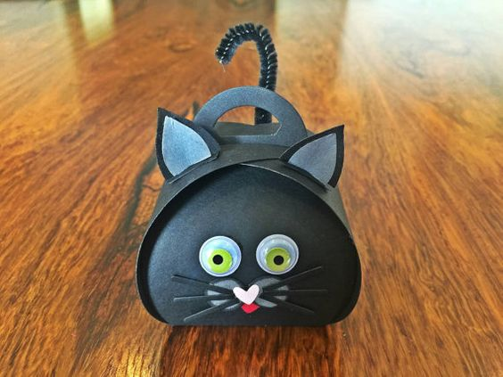 Check out this black cat halloween treat box, perfect for halloween candy, or halloween decorations. Gift this to the cat lover in your life. Now on Etsy shop https://www.etsy.com/listing/474621253/halloween-halloween-treat-box-halloween