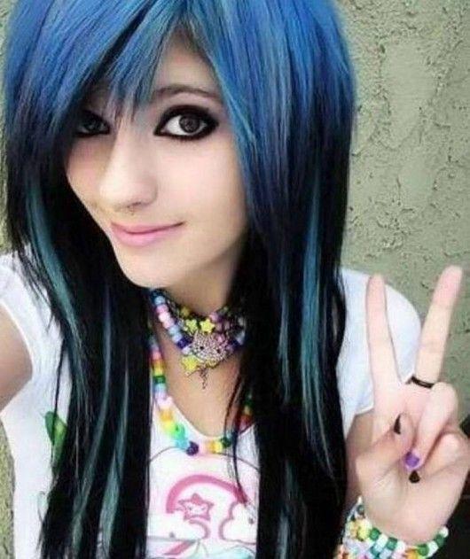 Love this hair, dark blue and black