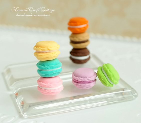 Dollhouse Miniature Macaron Sweets Pastry Handmade Doll