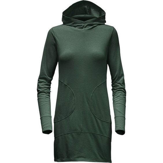 The North Face Hooded FlashDry Dress ($65) ❤ liked on Polyvore featuring dresses, summer day dresses, hooded dress, swim dress, summer dresses and swimming dress