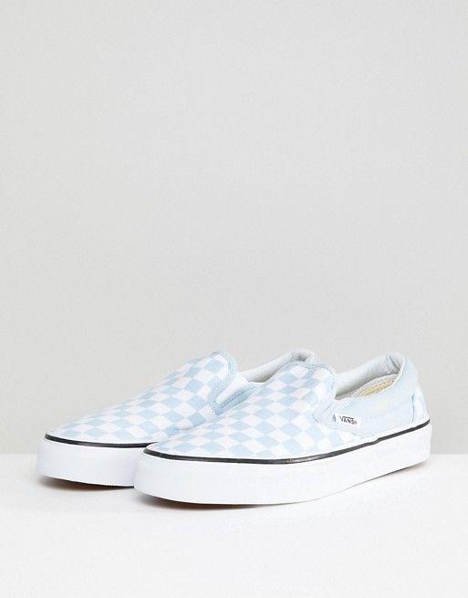 Vans Slip On Sneakers In Pastel Blue