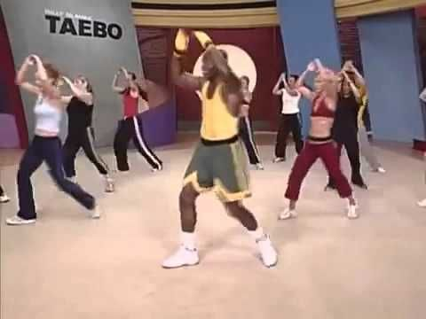 """Tae Bo Fast Weight Loss"". Billy Blanks Tae Bo Cardio video, 44+ minutes. Not a beginner's workout, LOL!"