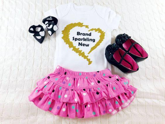 Brand Sparkling New Bodysuit Baby Girl by LittleLillyBugDesign