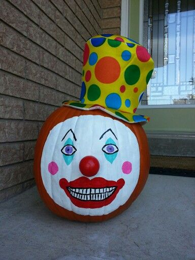 painted clown pumpkin halloween pinterest clowns and
