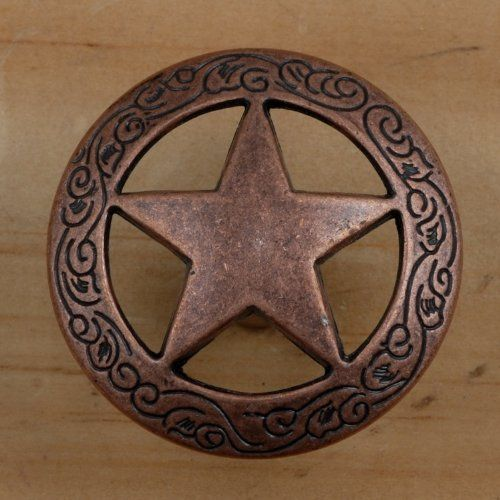 Set Of 24 Fancy Garland Lone Star Drawer Pulls Cabinet Knobs