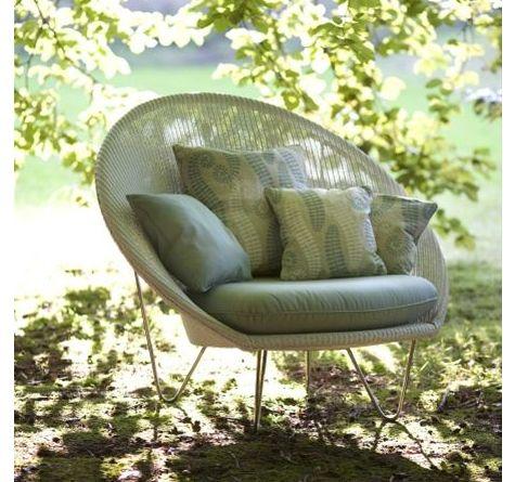 Gigi Lounge Sessel aus Lloyd Loom für den Outdoor-Einsatz