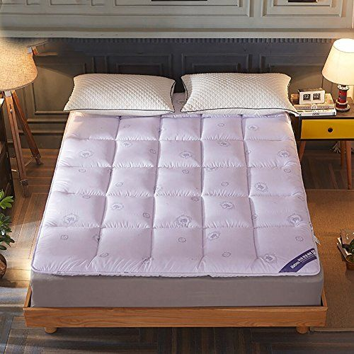 Dulplay Feather Velvet Mattress Pads Breathable Mattress Thick Foldable Tatami Bed Cover Non Slip Mattress Protectors Pu Sofa Bed Mattress Tatami Bed Mattress