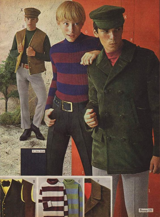 Boys' London Look Mod Style from a 1966 catalog. | 1960s ...