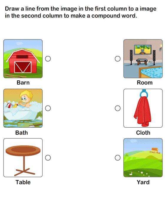 Compound Words Worksheet 15 eslefl Worksheets kindergarten – Compound Words Worksheets for Kindergarten