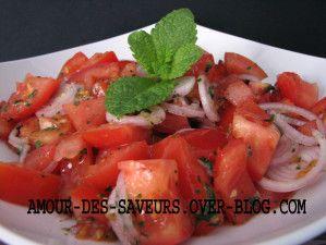 SALADE DE TOMATES A LA LIBANAISE - Cuisine et recettes libanaises - cuisine du monde