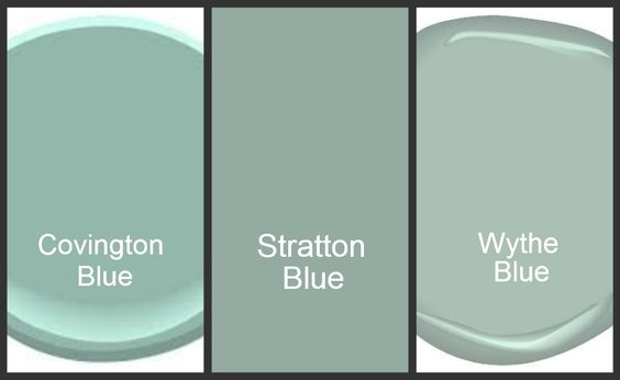 Wythe Blue - still, by far, my favorite color.  Thank you Cathy and Alyson!  Blue green paint colors [Benjamin Moore].