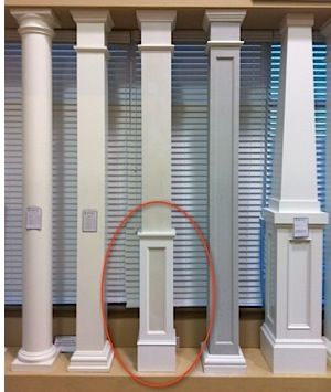 Square columns pvc column wraps tapered tuscan columns for Tapered porch columns
