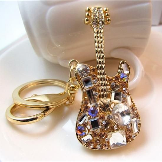 Women Fashion Crystal Rhinestone 3D Diamond Keyring Pendant Purse Key Chain UK