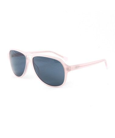 This Blush & Gray Aviator Sunglasses is perfect! #zulilyfinds