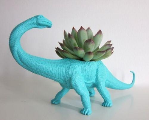 YES! dinosaur succulent planter