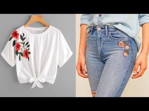 طريقة جديدة و مبتكرة لتجديد الملابس اعادة تدوير الملابس القديمه إلى عصريه Youtube Fashion Mom Jeans Refashion