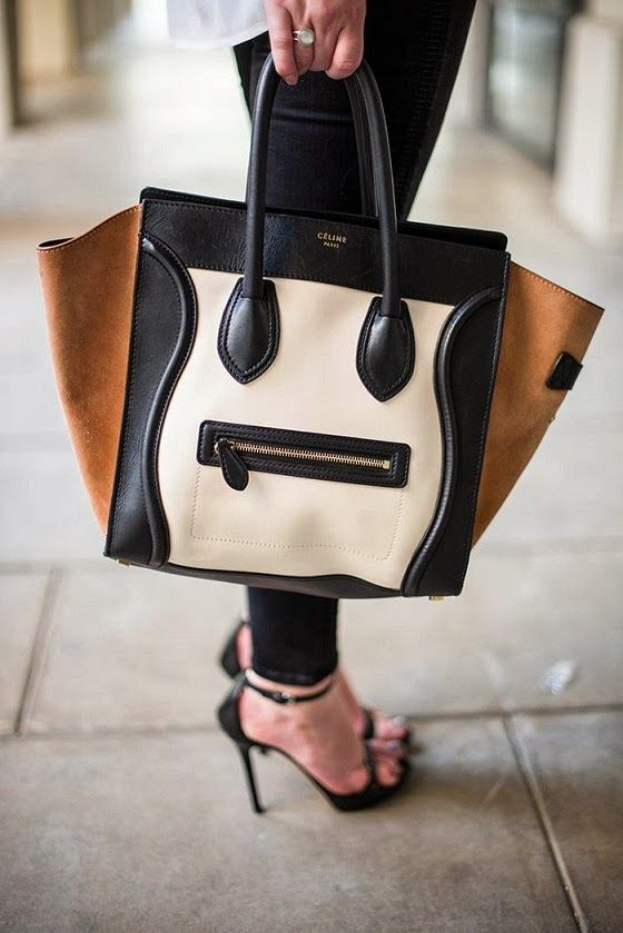 """Celine Paris Leather Handbag// """"My lips are sealed."""" This bag looks like it knows something that is going to haunt it for the rest of its days. *whispers* """"It's full of secrets"""" (Mean Girls!):"""