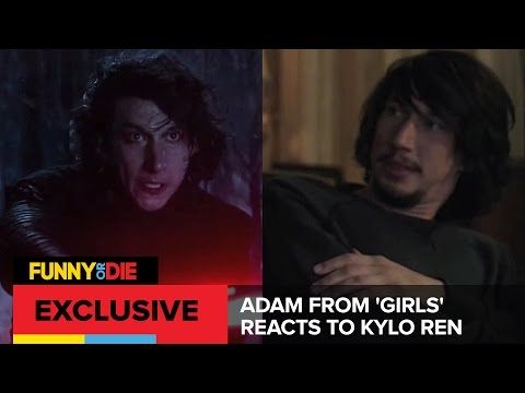 Adam From 'Girls' Reacts To Kylo Ren - YouTube