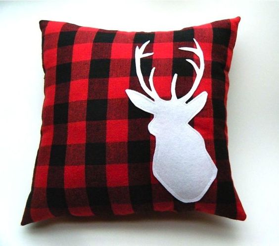 Decorative Plaid Pillows : Decorative plaid buck pillow made to order 14 x 14 by regansbrain for #campwannadrinka make ...