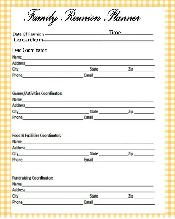 Family Reunion Booklet Maker  Family Reunion