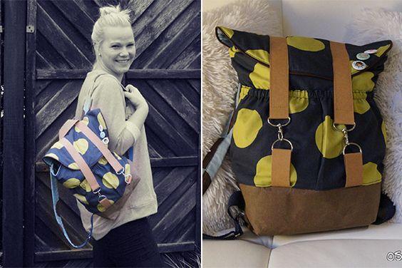 """Rucksack """"Pakke"""" von Sarah: http://de.dawanda.com/product/92355975-schnittmuster-rucksack-pakke-pdf-ebook"""