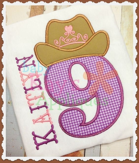 Baby Kay's Appliques - Cowgirl Princess Numbers, $9.99 (http://www.babykaysappliques.com/cowgirl-princess-numbers/)