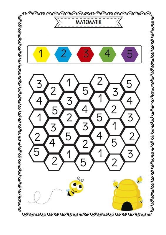 Sayi Renk Sekil Kavrami Calisma Kagidi Okul Anaokulu Matematigi