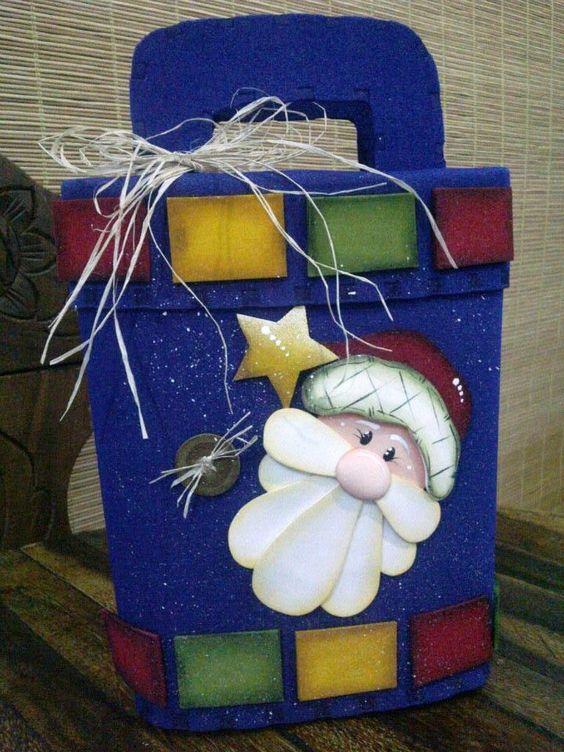 Moldes bolsa de papa noel para navidad moldes de preciosa - Papa noel manualidades ...