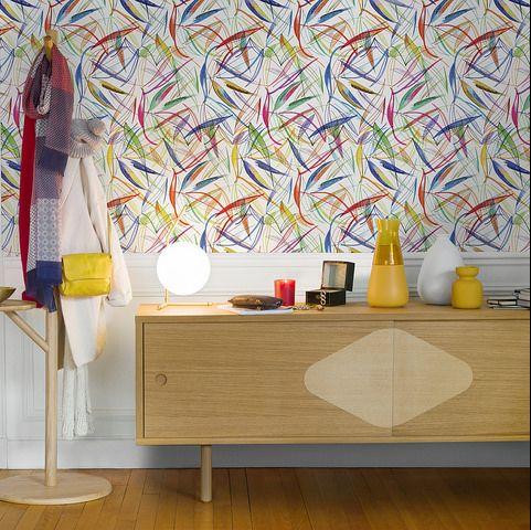 Lysandre Rouleau De Papier Peint Design By Floriane Jacques Buffet Chene Papier Peint Papier Peint Design