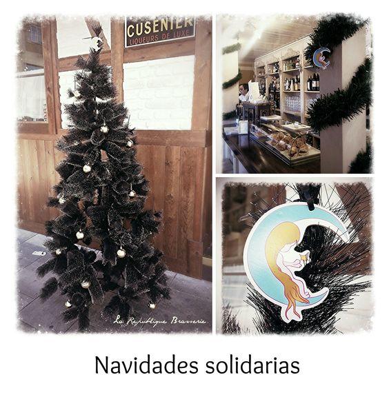 Decoración navideña dedicada a la asociación Izas, la princesa guisante.