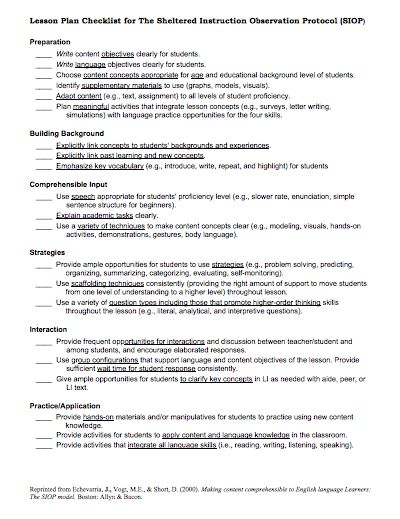 Siop lesson plans for high school math sample lesson for Siop lesson plan template 3 word document