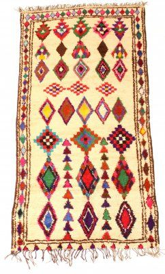 Kelim Marokkanische Berber Teppich Azilal 265 x 127 cm