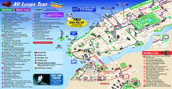 New York City Tourist Map With Neighborhoods And Attractions Nyc: Map Of New York For Visitors At Usa Maps