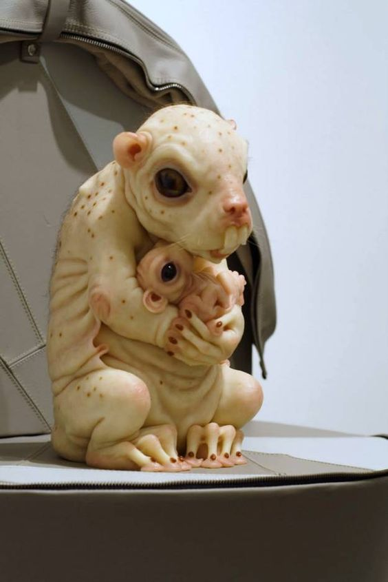 Fantasy | Whimsical | Strange | Mythical | Creative | Creatures | Dolls | Sculptures | ☥ | Sculptures By Patricia Piccinini