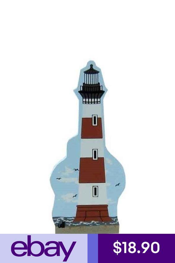 Cat/'s Meow Village S Carolina Morris Island Lighthouse #03-623 NEW Ship Disc