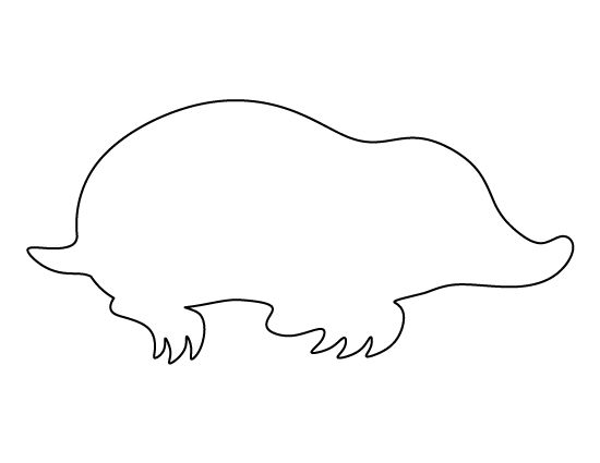 Mole pattern. Use the printable outline for crafts, creating stencils, scrapbooking, and more. Free PDF template to download and print at http://patternuniverse.com/download/mole-pattern/