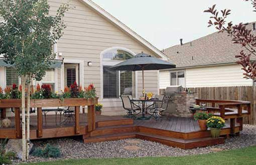 Charming Medium, Low, 1 Level Deck With Bench, Planters, Privacy Screen, And Pergola  (#1R7130). | Deck | Pinterest | Pergolas, Decking And Planters