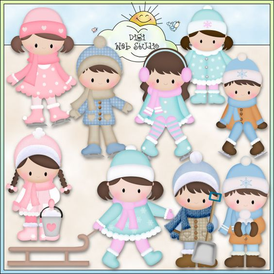 Chilly Chelsea & Charlie 1 - Non-Exclusive Clip Art : Digi Web Studio, Clip Art, Printable Crafts & Digital Scrapbooking!
